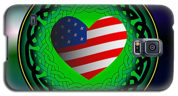 American Heart Irish Blood Galaxy S5 Case by Ireland Calling