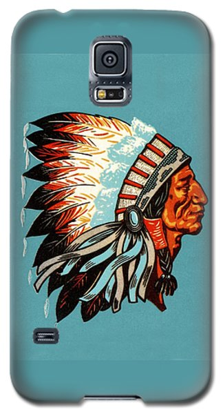 American Indian Chief Profile Galaxy S5 Case
