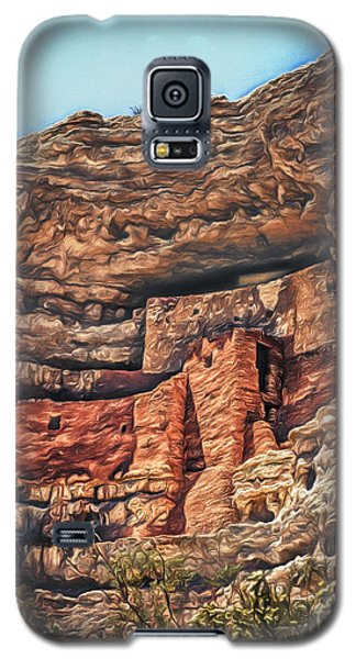 American Indian Cliff Dwelling  ... Galaxy S5 Case by Chuck Caramella
