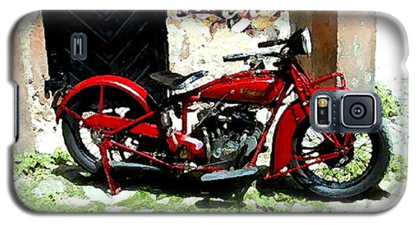 American Indian   Indian Motorcycle  Galaxy S5 Case by Iconic Images Art Gallery David Pucciarelli