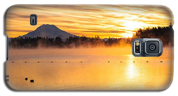 American Lake Misty Sunrise Galaxy S5 Case
