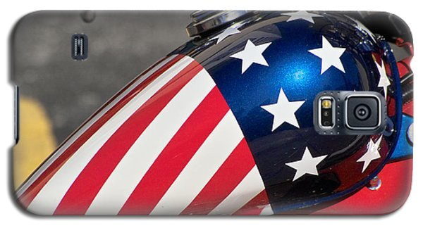 Galaxy S5 Case featuring the photograph American Motorcycle by Gary Dean Mercer Clark