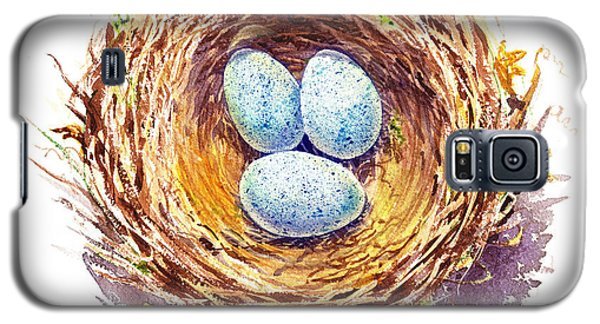 American Robin Nest Galaxy S5 Case by Irina Sztukowski