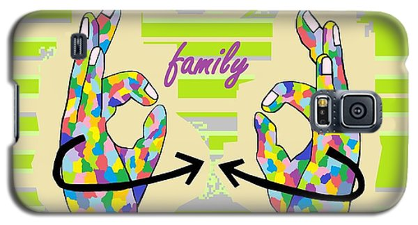 American Sign Language Family                                                    Galaxy S5 Case by Eloise Schneider
