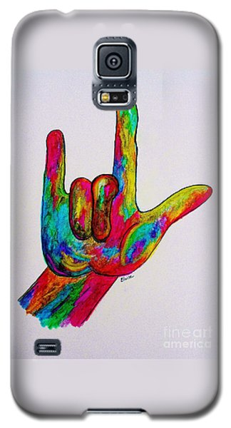 American Sign Language I Love You Galaxy S5 Case by Eloise Schneider
