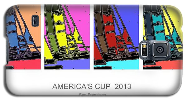 Galaxy S5 Case featuring the drawing America's Cup Poster 3 by Andrew Drozdowicz