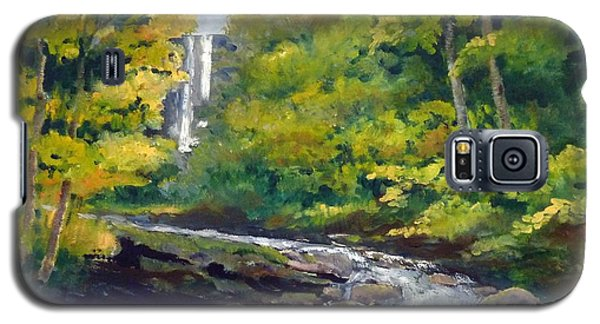 Amicalola Falls Painting Galaxy S5 Case by Sally Simon