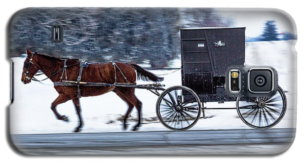 Amish Buggy In Winter Galaxy S5 Case