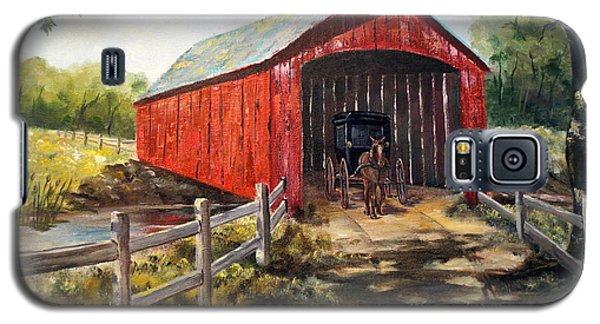 Galaxy S5 Case featuring the painting Amish Country by Lee Piper