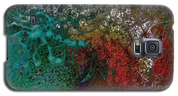 Galaxy S5 Case featuring the digital art Amoebae by Constance Krejci
