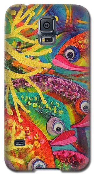 Galaxy S5 Case featuring the painting Amongst The Coral by Lyn Olsen