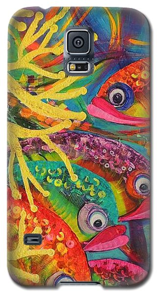 Amongst The Coral Galaxy S5 Case by Lyn Olsen