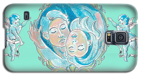 Galaxy S5 Case featuring the painting Amor In Aqua by John Keaton