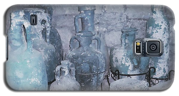 Amphora In Blue Galaxy S5 Case by Ann Johndro-Collins