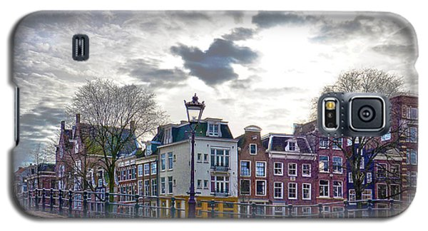 Galaxy S5 Case featuring the photograph Amsterdam Bridges by Frans Blok