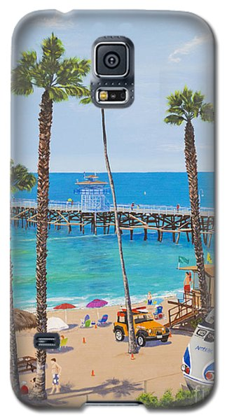 Galaxy S5 Case featuring the painting Perfect Beach Day by Mary Scott