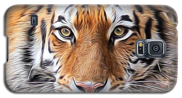 Amur Tiger Portrait Galaxy S5 Case by Diane Alexander