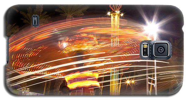 Amusement Park Ride Swirls  Galaxy S5 Case by Matthew Bamberg