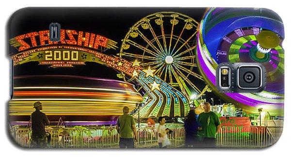 Amusement Park Rides At Night Galaxy S5 Case