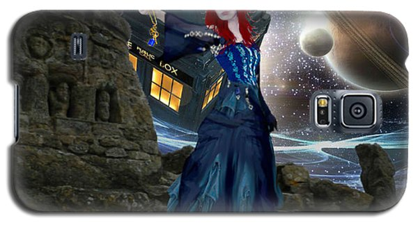 Galaxy S5 Case featuring the painting Amy And The Tardis by Digital Art Cafe
