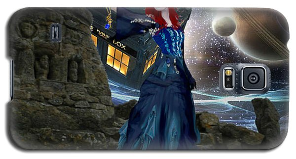Amy And The Tardis Galaxy S5 Case by Digital Art Cafe