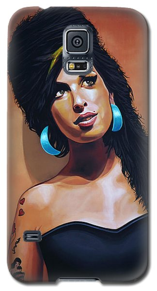 Rhythm And Blues Galaxy S5 Case - Amy Winehouse by Paul Meijering