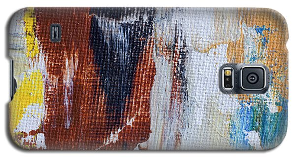 Galaxy S5 Case featuring the painting An Abstract Sort Of Weekend by Heidi Smith