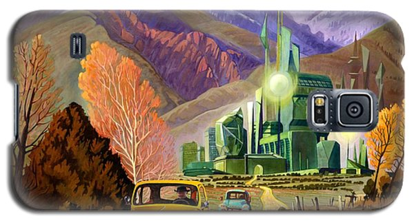 Galaxy S5 Case featuring the painting Trucks In Oz by Art James West