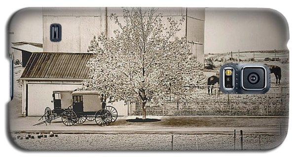 An Amish Farm In Sepia Galaxy S5 Case