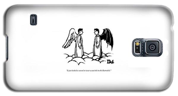 An Angel With Bat Wings Speaks To An Angel Galaxy S5 Case by Drew Dernavich