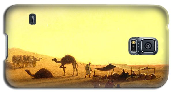 An Arab Encampment  Galaxy S5 Case by Charles Theodore Frere