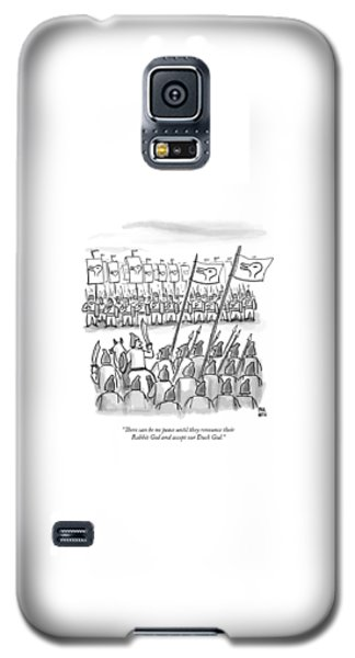 Religious Galaxy S5 Case - An Army Lines Up For Battle by Paul Noth