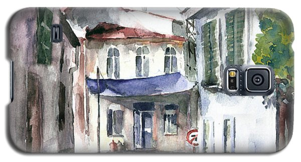Galaxy S5 Case featuring the painting An Authentic Street In Urla - Izmir by Faruk Koksal