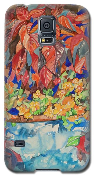 An Autumn Floral Galaxy S5 Case by Esther Newman-Cohen