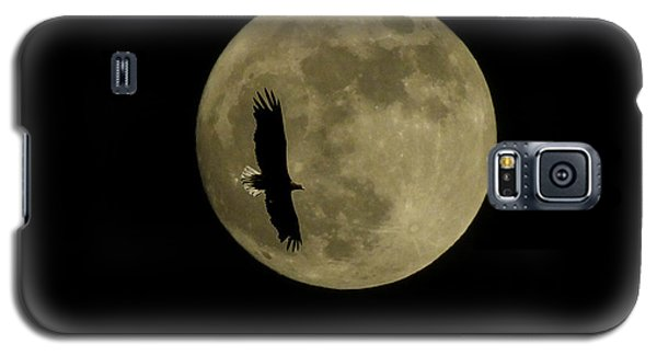 An Eagle And The Moon Galaxy S5 Case by Mark Alan Perry