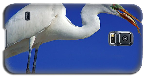 An Egret's Lunch Galaxy S5 Case