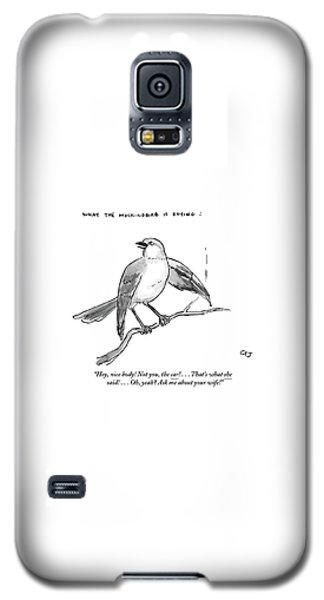 Mockingbird Galaxy S5 Case - An Incendiary Mockingbird Is Depicted by Carolita Johnson