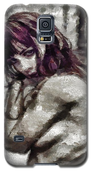 Galaxy S5 Case featuring the painting An Insecure Heart by Joe Misrasi