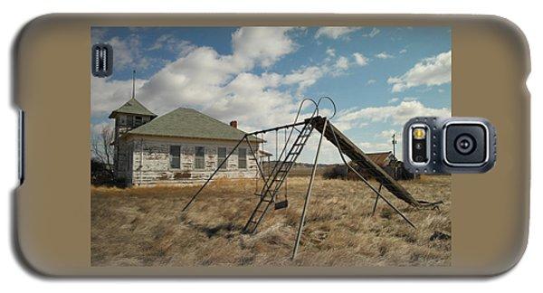 An Old School Near Miles City Montana Galaxy S5 Case by Jeff Swan