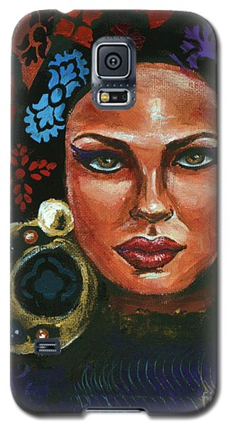 Galaxy S5 Case featuring the painting An Unconventional Life by Alga Washington