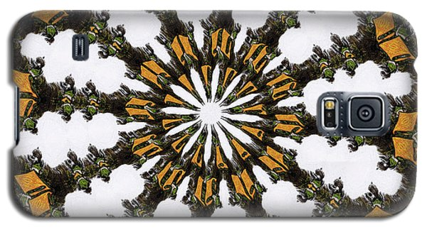 Galaxy S5 Case featuring the digital art Ananasi Mandala by Lisa Brandel