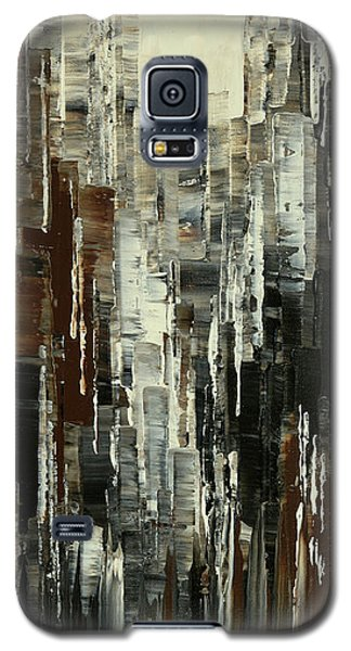 Galaxy S5 Case featuring the painting Anarchist Breakfast by Tatiana Iliina
