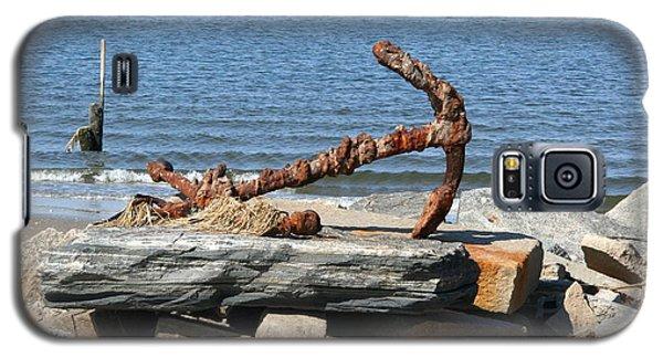 Galaxy S5 Case featuring the photograph Anchor by Karen Silvestri
