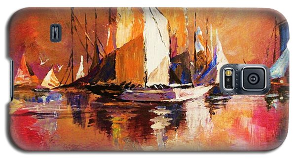 Anchored At Sunset Galaxy S5 Case