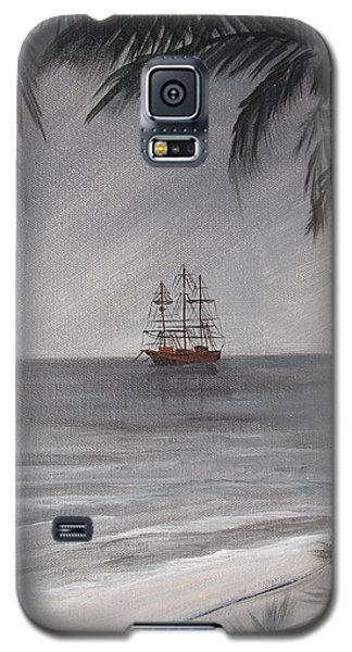 Galaxy S5 Case featuring the painting Anchored For The Night by Virginia Coyle