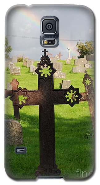 Ancient Cross Rainbow Blessing Galaxy S5 Case