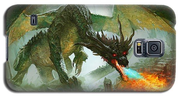 Fantasy Galaxy S5 Case - Ancient Dragon by Ryan Barger