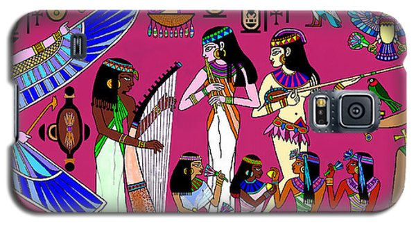 Galaxy S5 Case featuring the mixed media Ancient Egypt Splendor by Hartmut Jager