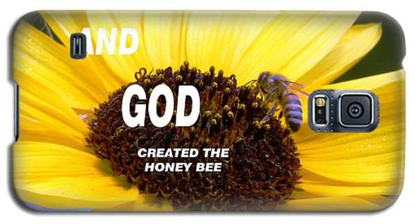 And God Created The Honey Bee Galaxy S5 Case by Belinda Lee