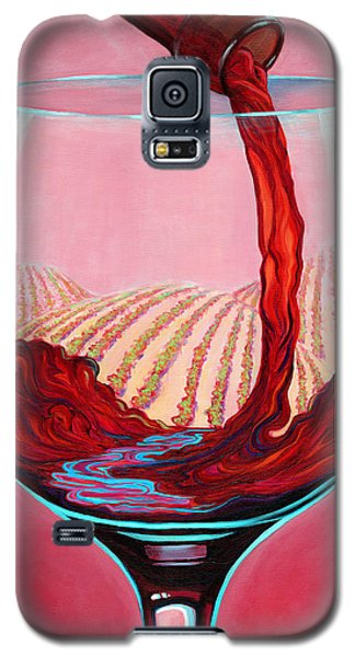 Galaxy S5 Case featuring the painting ...and Let There Be Wine by Sandi Whetzel